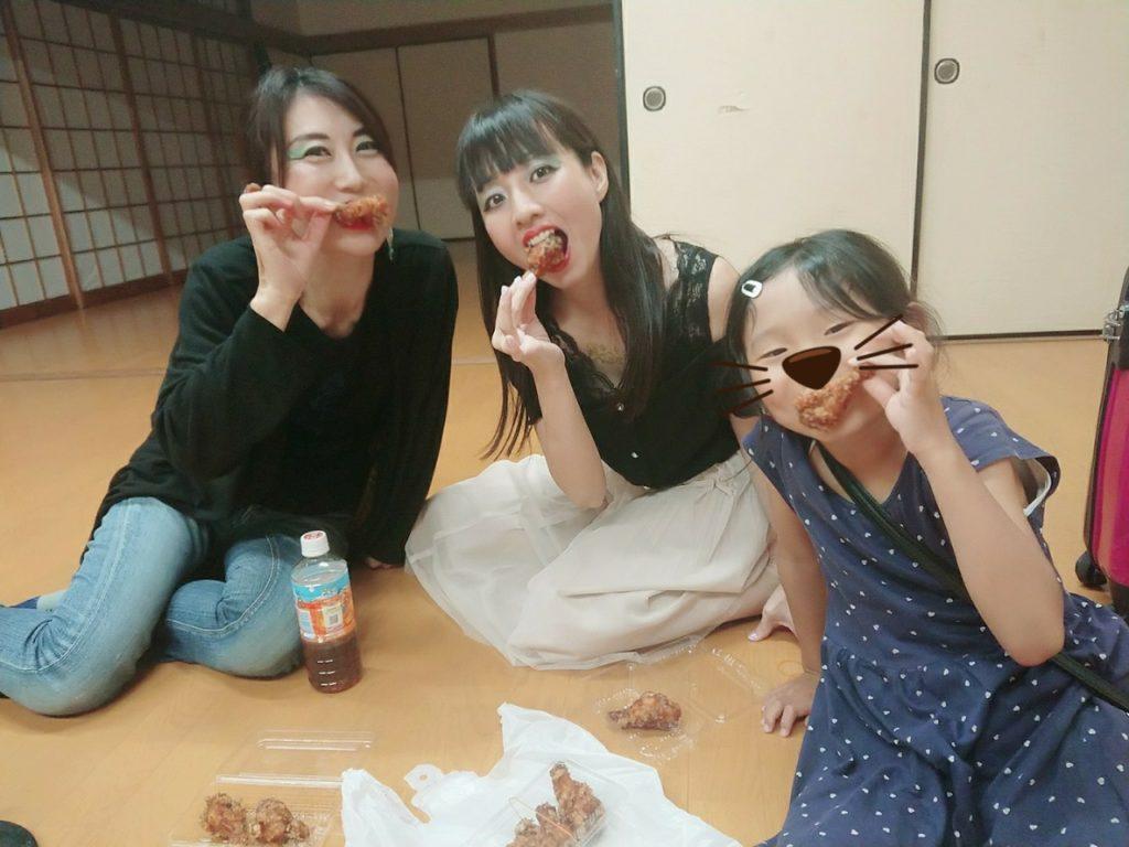 7/21大分市夏祭り 控え室にて
