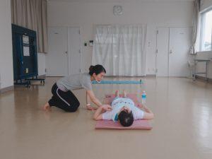 腹式呼吸を指導